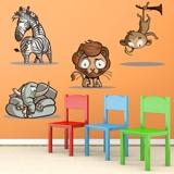 Kinderzimmer Wandtattoo: kit africa color 4