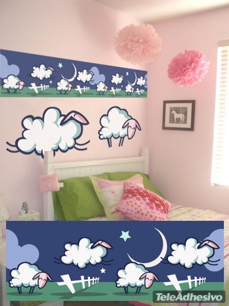 Kinderzimmer Wandtattoo: Schafe borte