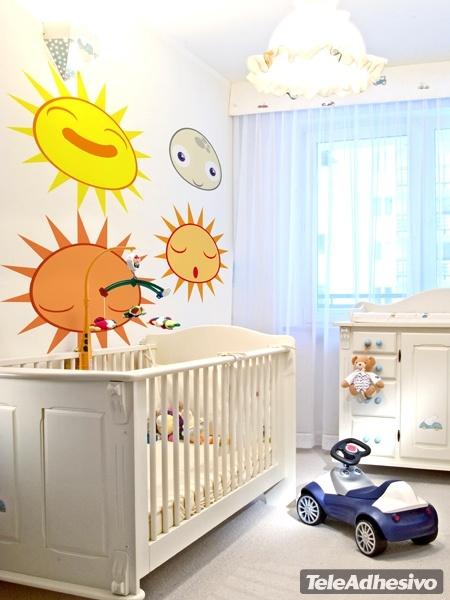 Kinderzimmer Wandtattoo: Sonne1