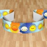 Kinderzimmer Wandtattoo: Scheuerleiste Sonnen-und Mond 0