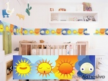 Kinderzimmer Wandtattoo: Scheuerleiste Sonnen-und Mond 1