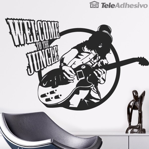 Wandtattoos: Guitar hero