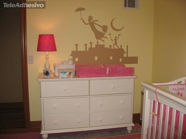 Kinderzimmer Wandtattoo: Poppins