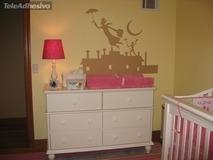 Kinderzimmer Wandtattoo: Poppins 2