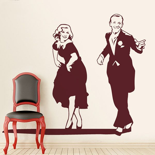 Wandtattoos: Fred Astaire und Ginger Rogers