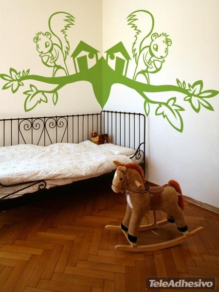 Kinderzimmer Wandtattoo: Eichhörnchen
