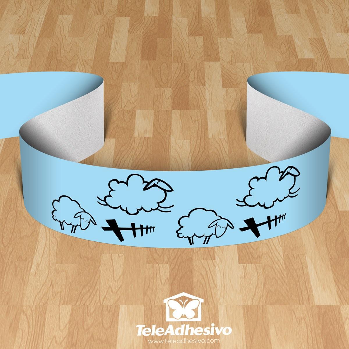 Kinderzimmer Wandtattoo: Valance Schafe
