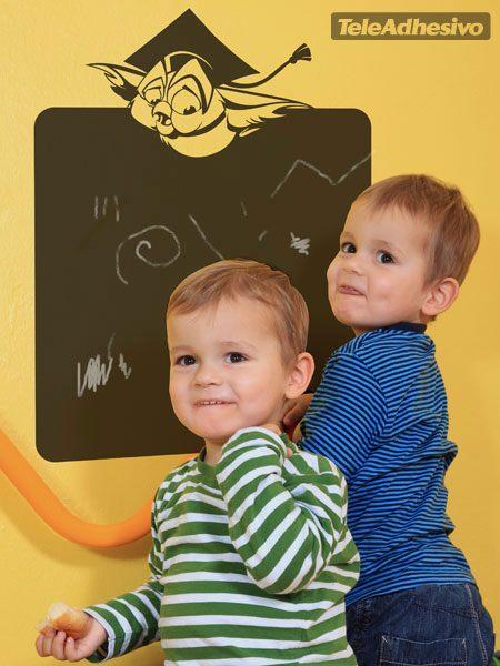 Kinderzimmer Wandtattoo: Pizarra buho 2