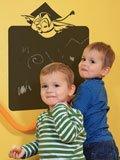 Kinderzimmer Wandtattoo: Pizarra buho 2 3