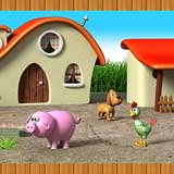 Kinderzimmer Wandtattoo: Grenze Farm Animals 2 4