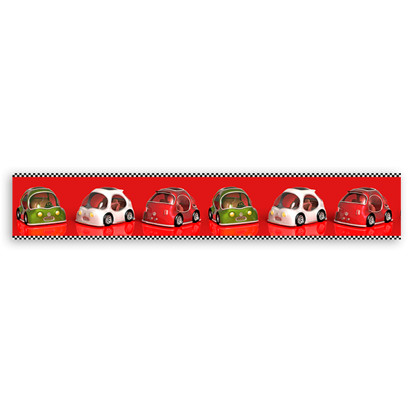 Kinderzimmer Wandtattoo: Racing Cars Valance