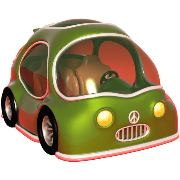 Kinderzimmer Wandtattoo: Green Car 0