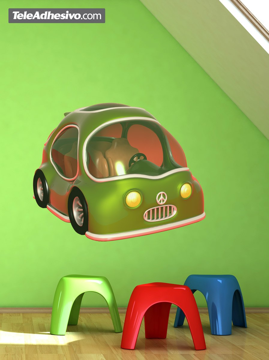 Kinderzimmer Wandtattoo: Green Car