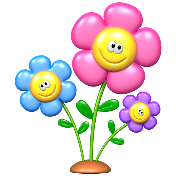 Kinderzimmer Wandtattoo: Smiley-Blumen