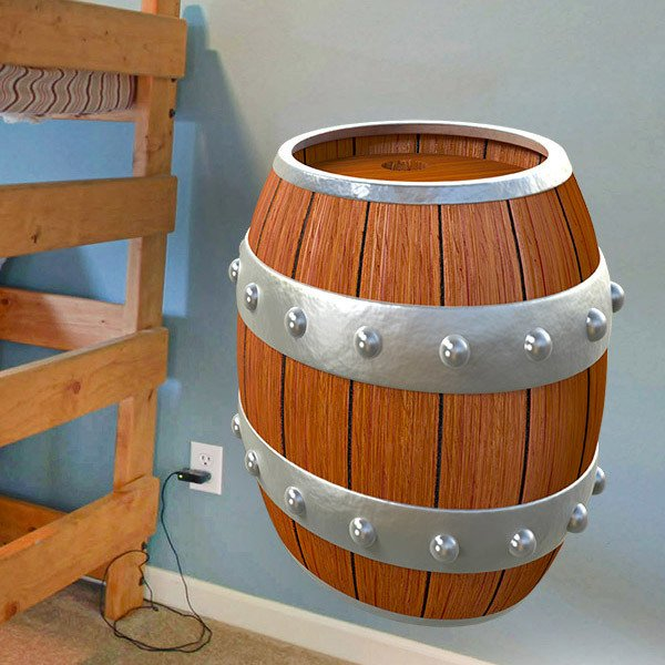 Kinderzimmer Wandtattoo: Piraten Barrel