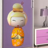 Kinderzimmer Wandtattoo: Orange Kokeshi Puppe 3
