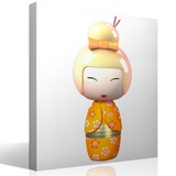 Kinderzimmer Wandtattoo: Orange Kokeshi Puppe 4
