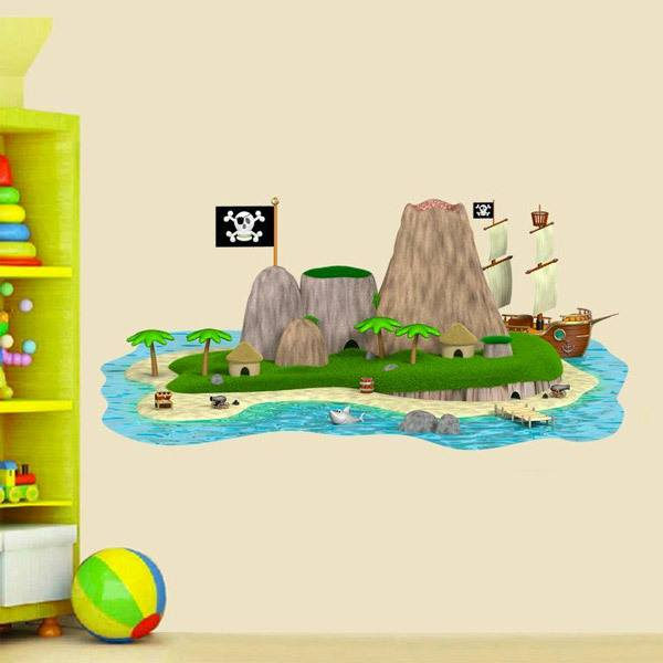 Kinderzimmer Wandtattoo: Pirates Island