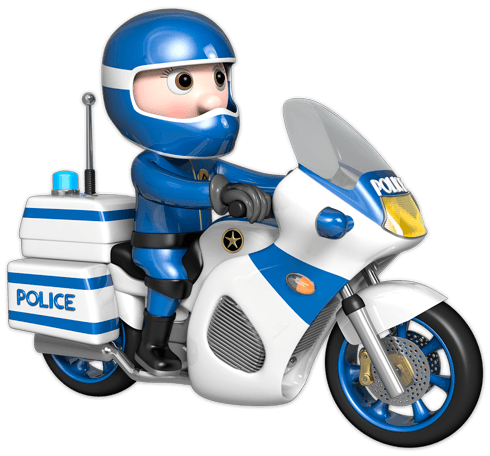 kinderzimmer wandtattoo motorrad der polizei. Black Bedroom Furniture Sets. Home Design Ideas