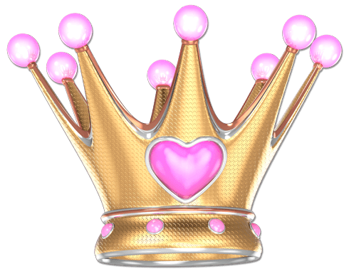 Kinderzimmer Wandtattoo: Crown rosa Herz
