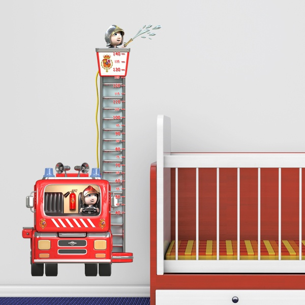 kinderzimmer wandtattoo feuerwehr und polizei. Black Bedroom Furniture Sets. Home Design Ideas