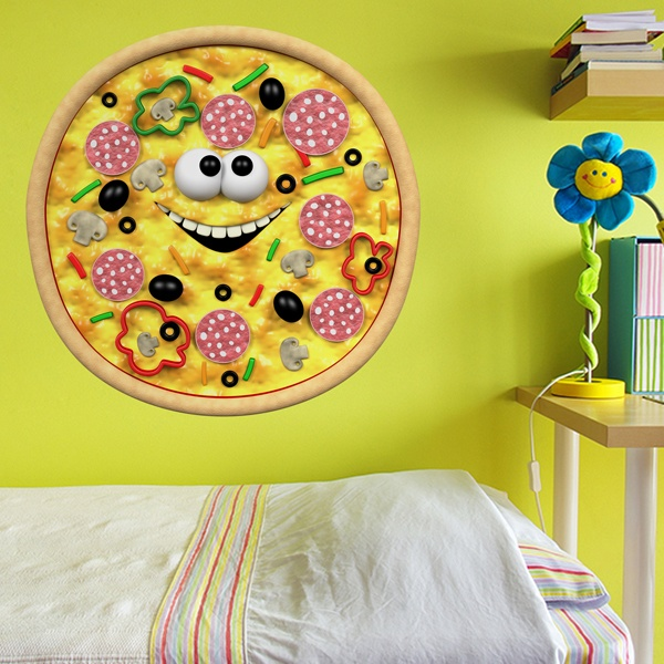 Kinderzimmer Wandtattoo: Kind-pizza