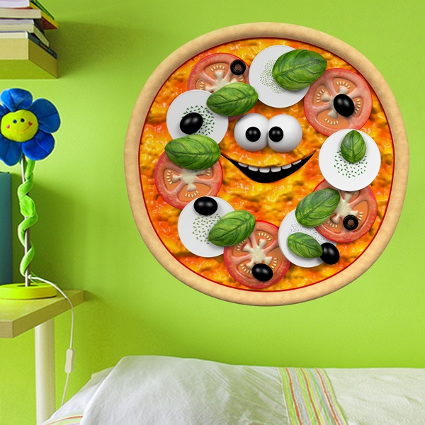 Kinderzimmer Wandtattoo: Pizza