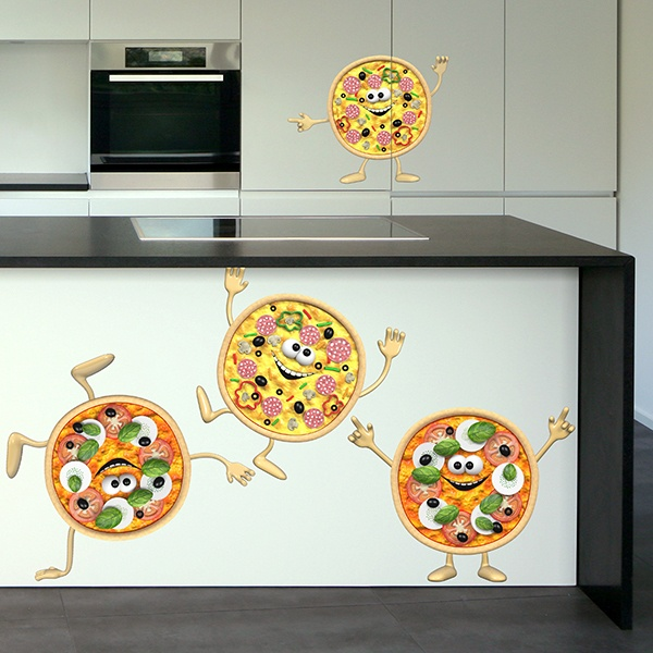 Kinderzimmer Wandtattoo: Mini-Pizzen
