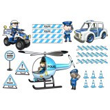 Kinderzimmer Wandtattoo: Kit Polizei 2 3