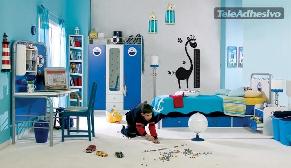 Kinderzimmer Wandtattoo: Giraffe Meter