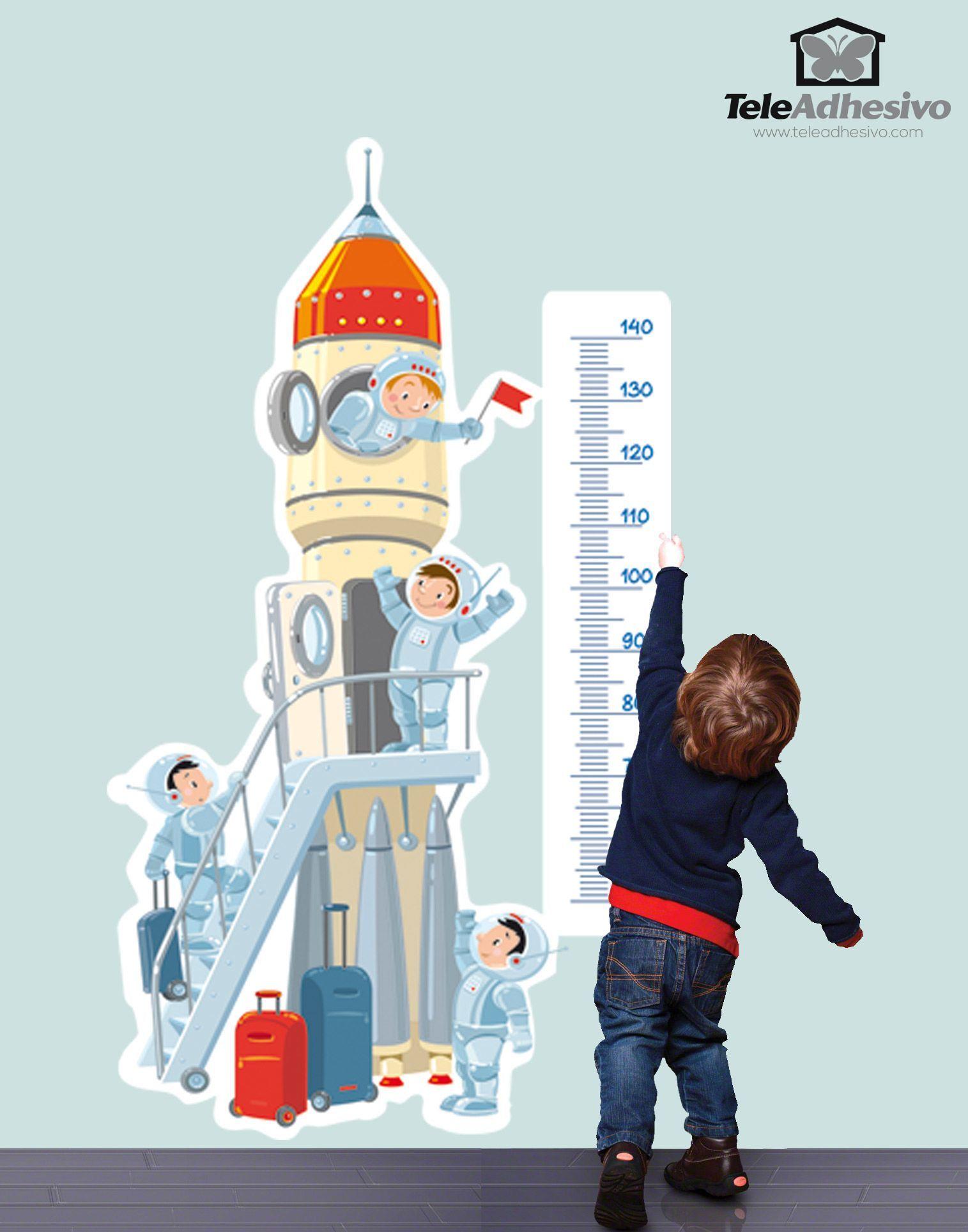 Kinderzimmer Wandtattoo: Rakete ins All
