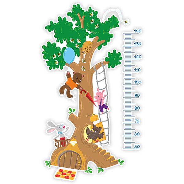 Messlatte für Kinder Aufkleber Tierbaum