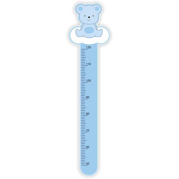 Messlatte für Kinder Aufkleber blauer Bär