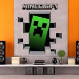 Wandtattoos: Minecraft 3D 1 3