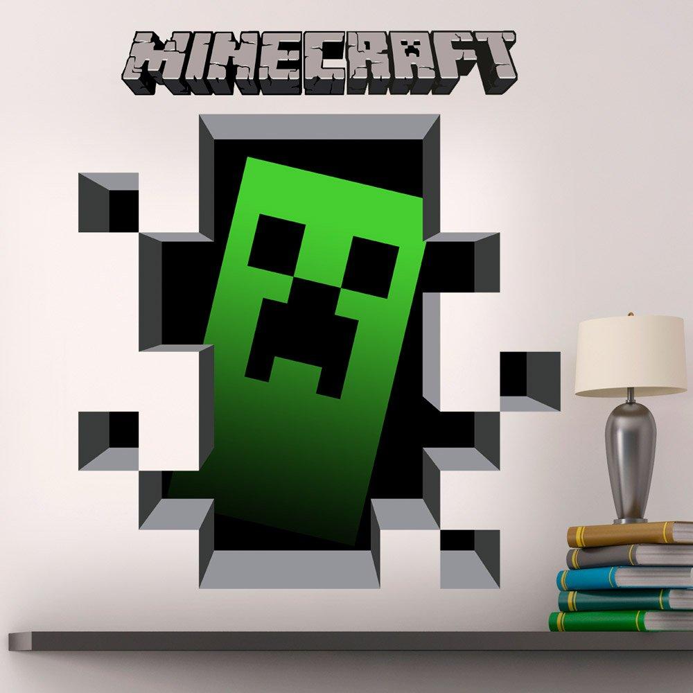 Wandtattoos: Minecraft 3D 1