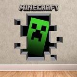 Wandtattoos: Minecraft 3D 1 6