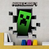 Wandtattoos: Minecraft 3D 1 7