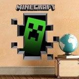 Wandtattoos: Minecraft 3D 1 9