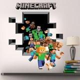 Wandtattoos: Minecraft 3D 2 3