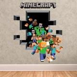 Wandtattoos: Minecraft 3D 2 4