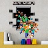 Wandtattoos: Minecraft 3D 2 5