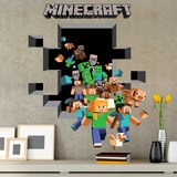 Wandtattoos: Minecraft 3D 2 7
