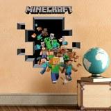 Wandtattoos: Minecraft 3D 2 8