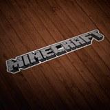 Wandtattoos: Sticker Minecraft letra 0