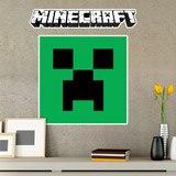 Wandtattoos: Minecraft logo 8
