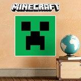 Wandtattoos: Minecraft logo 9
