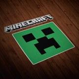 Wandtattoos: Sticker Minecraft Buchstaben und Logos 0