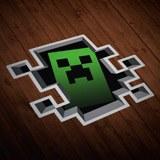 Wandtattoos: Sticker Minecraft Crepper 0
