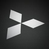 Aufkleber: Mitsubishi logo 2 0
