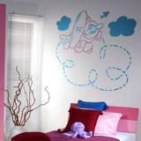 Kinderzimmer Wandtattoo: Vielfarbig Plane 2